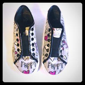Coach Bev Poppy Gray Sneakers Size 6.5